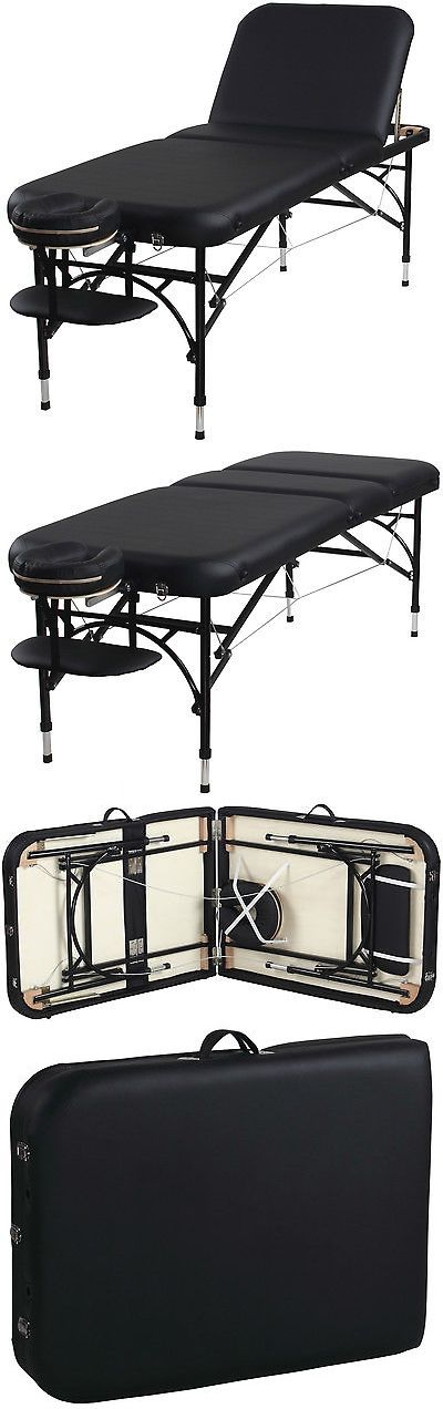 Massage Tables and Chairs: Sierra Comfort Aluminum Portable Massage Table With Adjustable Back BUY IT NOW ONLY: $144.99