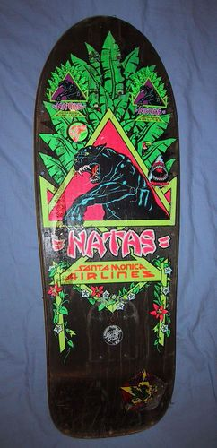 """Santa Monica Airlines... Every kid had to have one Natas Kaupas, because surely you could Ollie higher with that.  Mine was a """"slick"""" model, had some extra layer on the bottom that was supposed to slide better."""