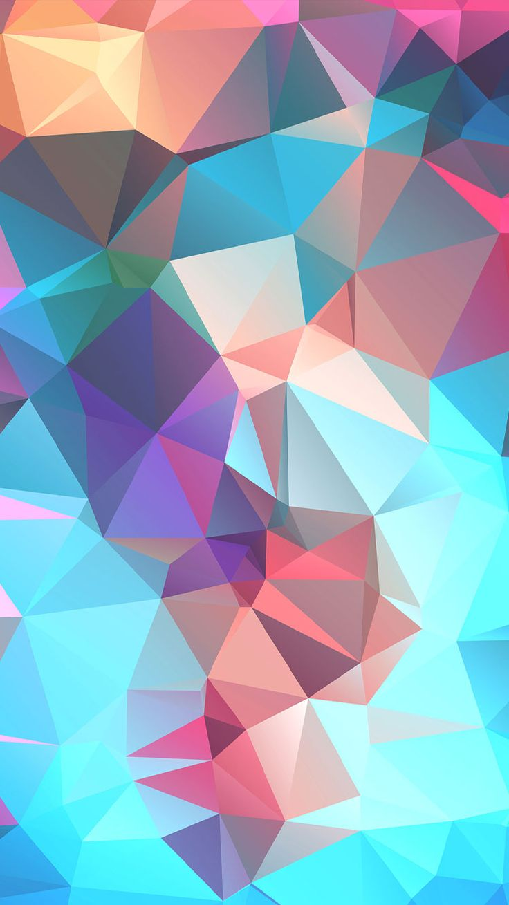 78 best geometric iphone wallpapers images on pinterest - Geometric wallpaper colorful ...