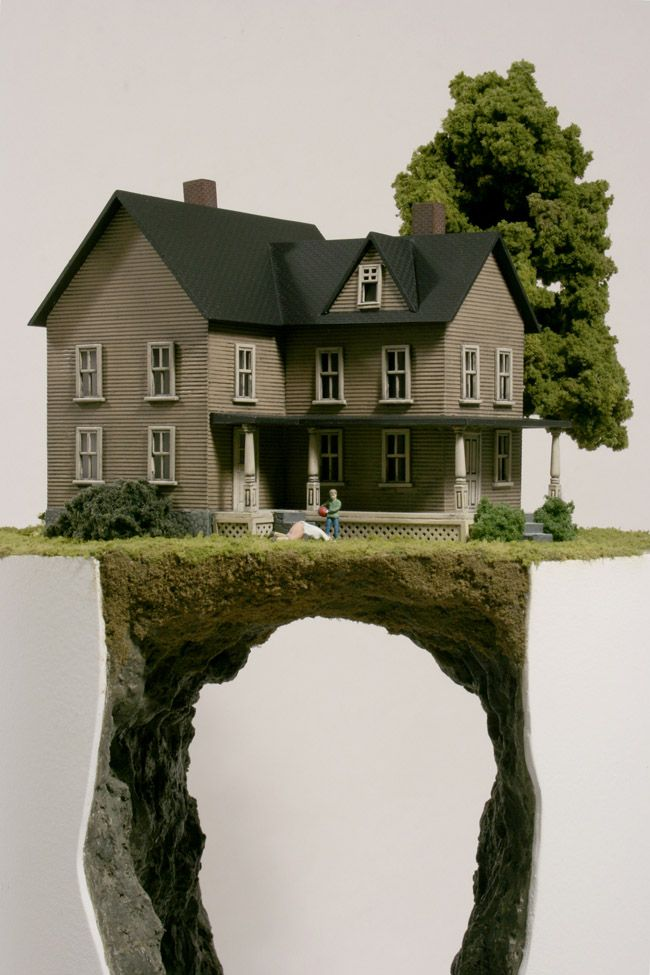 Best Thomas Doyle Images On Pinterest Miniature Exhibitions - Weed murals slowly engulf urban buildings mona caron