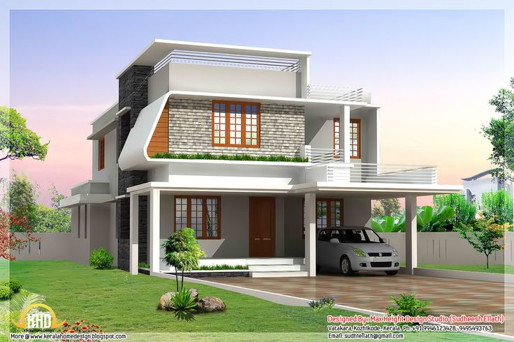 Contemporary house plans beautiful modern home Indian modern house