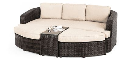 Jade Rattan Garden Daybed £709 c. 2.26m x 1.8m brown rattan in stock now