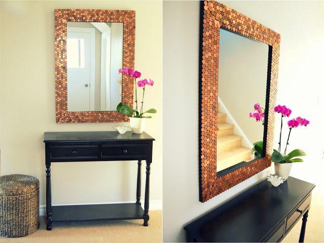 Dekorieren Sie selber den Rahmen eines Spiegels, um etwas Einzigartiges zu schaffen... 11 Beispiele! - DIY Bastelideen