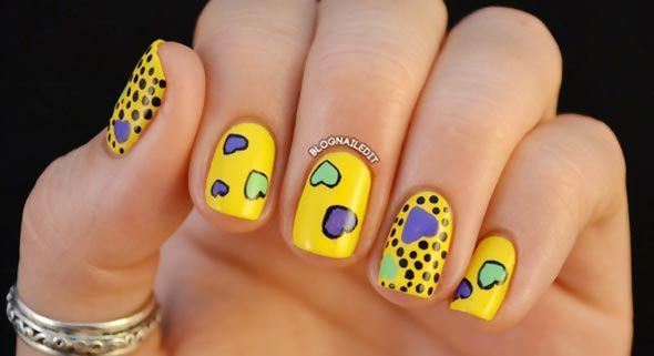 Yellow Nail Designs For Sunny Days #prom yellow nail art