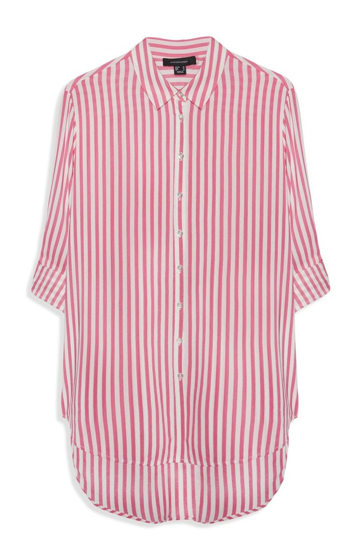 Roze gestreepte blouse