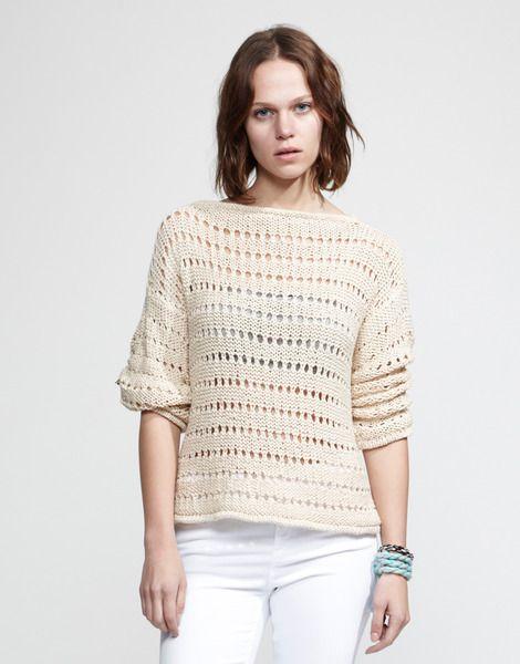 Lacy sweater knitting kit