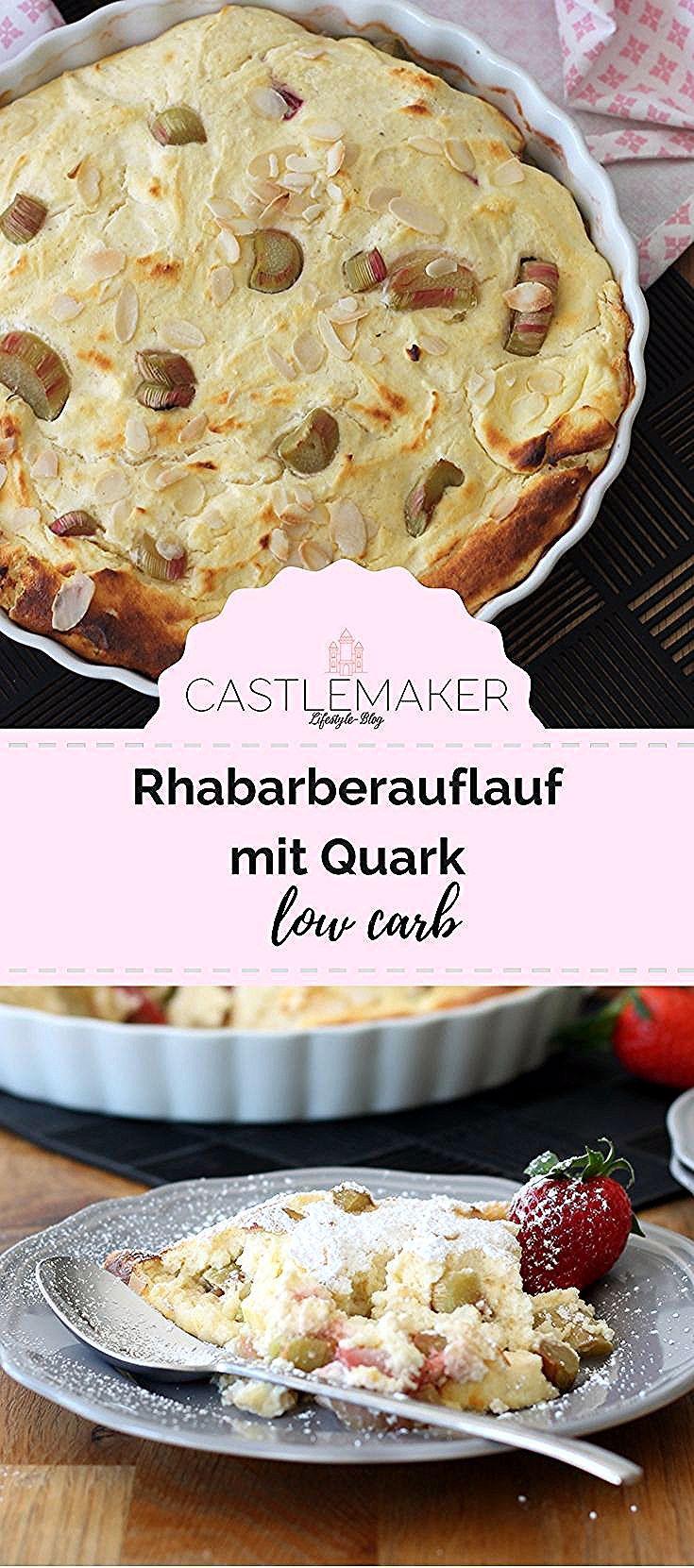 Hier Kombiniere Ich Den Gesunden Rhabarber Mit Erdbeeren Und Quark In Einer Gesunden Low Carb Varia In 2020 Low Carb Recipes Dessert Low Carb Muffins Low Carb Desserts