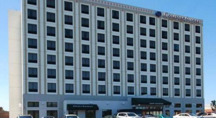 Comfort Suites O'Hare Airport Schiller Park Equipped with many modern conveniences, including in-room microwaves and mini-refrigerators, this all-suite hotel features free shuttle service to O'Hare International Airport and is near Stephens Convention Center.