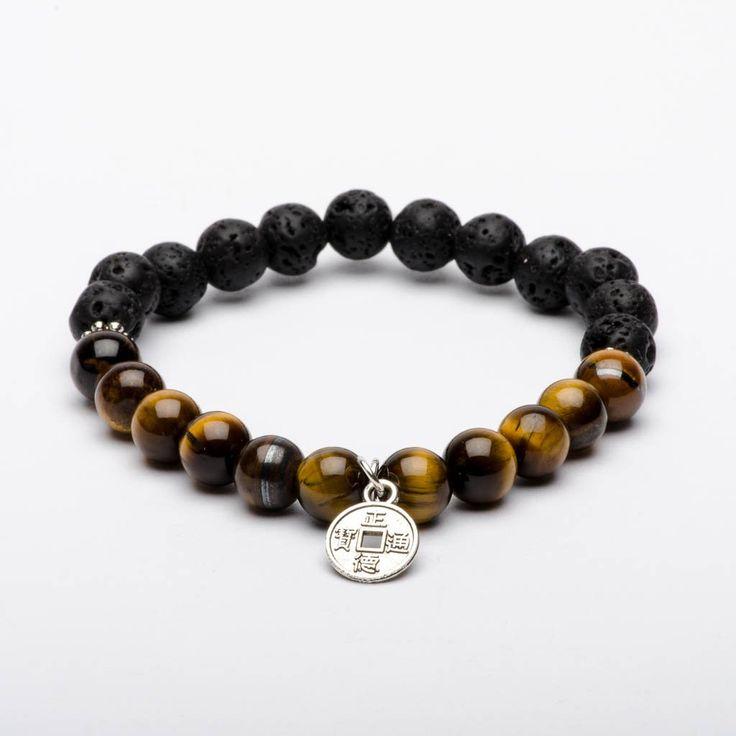 Mala Beads Bracelet Tiger Eyes Gemstones Brave Warrior