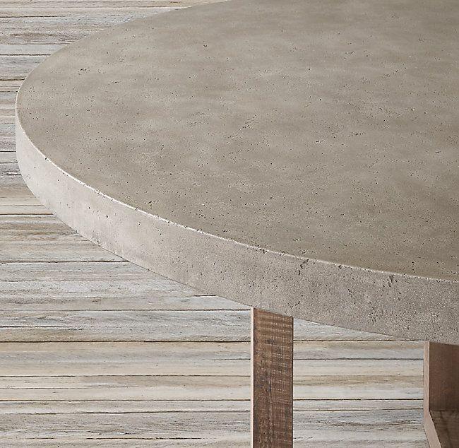 Heston Round Dining Table 48 Concrete Round Dining Table Round Dining Rustic Kitchen Decor