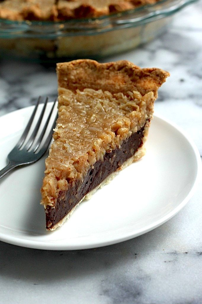 Check out chocolate coconut pecan pie it 39 s so easy to for Chocolate coconut pecan pie recipe