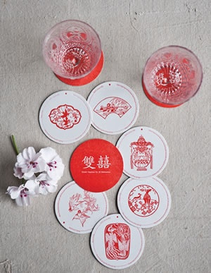 Double Happiness Coasters