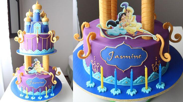Aladdin and Jasmine Cake Tutorial