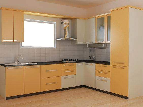 Modular Kitchen with Cabinets