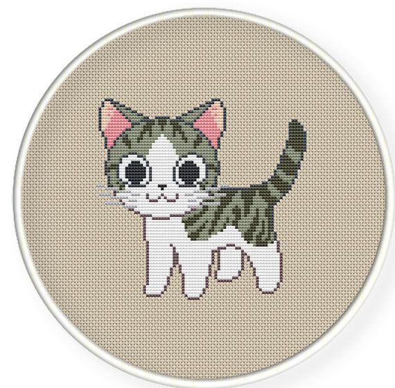 Instant download,free shipping,Cross stitch pattern, PDF,chi's cat ,ZXXC0279 Más