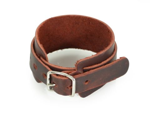 Beautiful leather wristband for guys or gals, ready to be laser engraved by our team at Make. Personalize it and design it yourself.