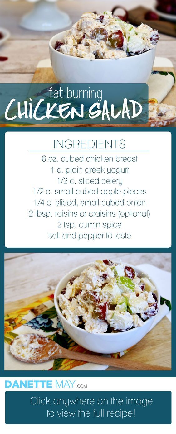 easy and healthy chicken salad. Could use curry instead of cumin. Love the Greek yogurt rather than mayo!