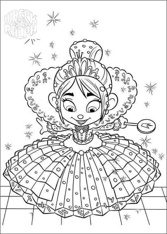 Wreck It Ralph Photo Wreck It Ralph Coloring Page Disney Coloring Pages Princess Coloring Pages Coloring Pages