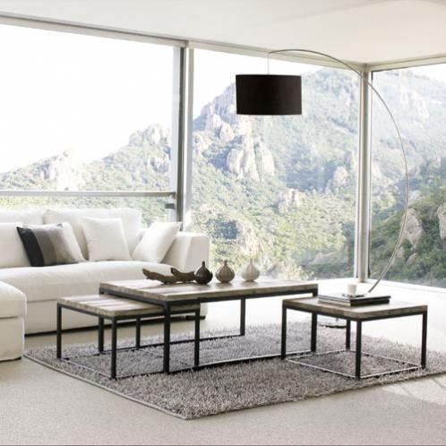 tables gigognes indus en sapin massif et m tal deco. Black Bedroom Furniture Sets. Home Design Ideas