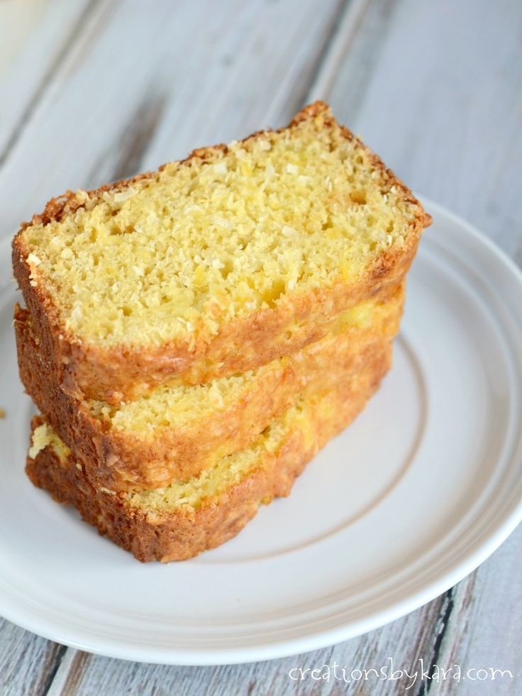 Hawaiian Bread - if you love pina coladas, give this pineapple coconut bread recipe a try!