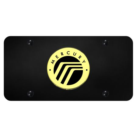 Au-Tomotive Gold Mercury Logo Gold on Black Plate