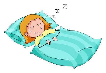 Cierre De Nina Durmiendo En La Cama Foto De Archivo 39162633 Tired Cartoon Sleep Animated Emoticons