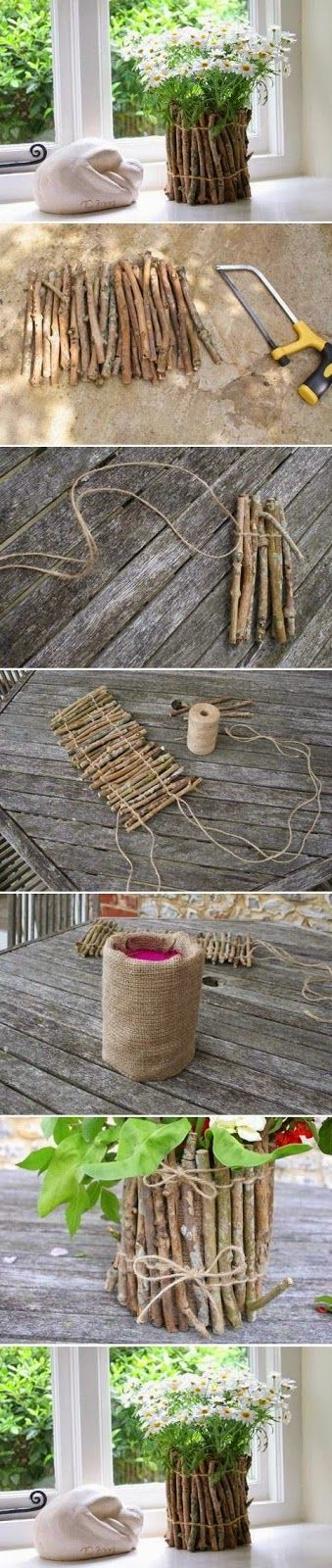DIY : Tree Branches Flower Pot                                                                                                                                                                                 More