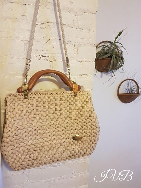Vintage Creazioni Alma Made in Italy straw purse top handle
