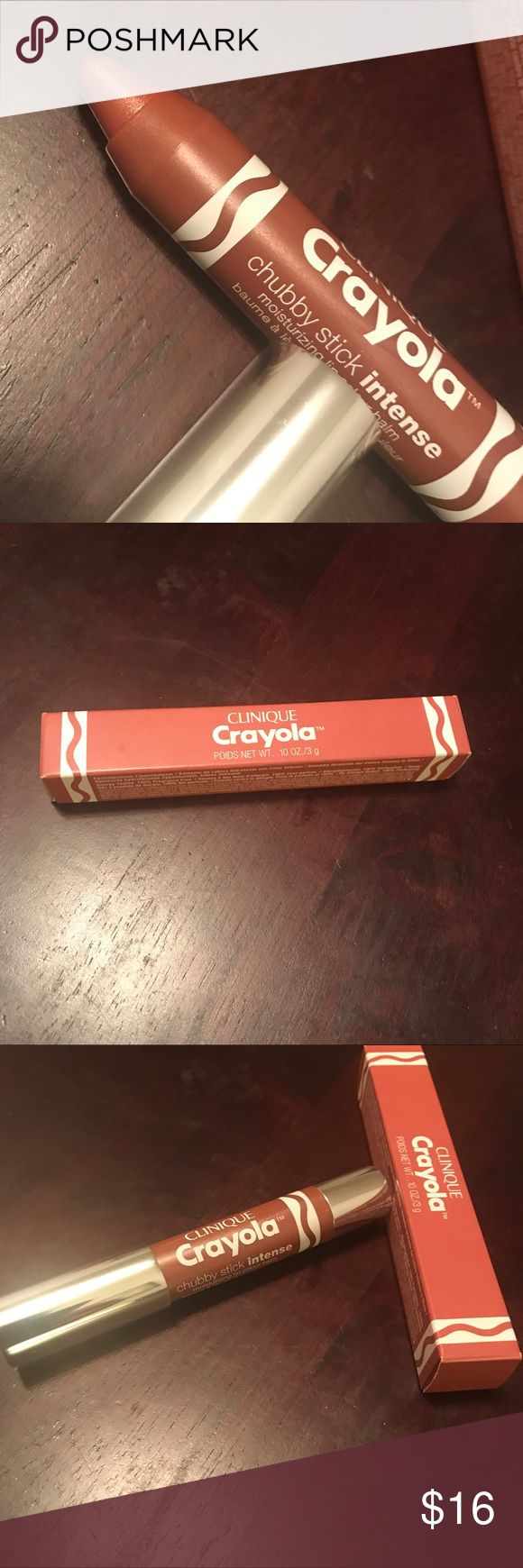 Clinique Crayola Chubby Stick | Fuzzy Wuzzy Limited edition chubby stick (lippie) in collaboration with Crayola in the shade nude shade Fuzzy Wuzzy.       New never used Clinique Makeup Lip Balm & Gloss