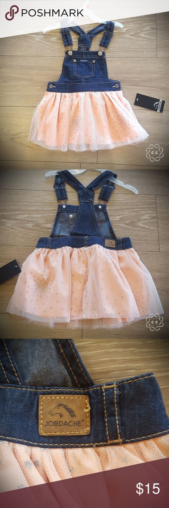 Jordache Skirt Tutu Romper New Jordache Skirt overalls Romper Denim Top with tool sparkle Tutu skirt Peach and silver tutu Various szs  New with tags jordache Dresses Casual
