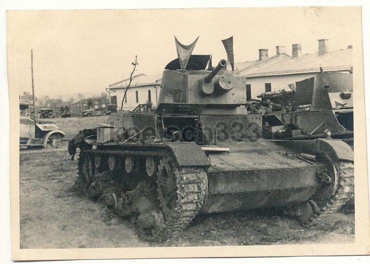 Czołg 7TP zdobyty przez Niemców w drugiej bitwie pod Tomaszowem Lubelskim