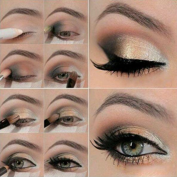 Lleva el degradado de negro a dorado en todo su esplendor. | 15 Tutoriales de sombras para todas las amantes del maquillaje