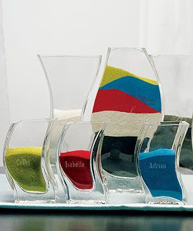 Miniature Wedding Sand Unity Ceremony Nesting Vases