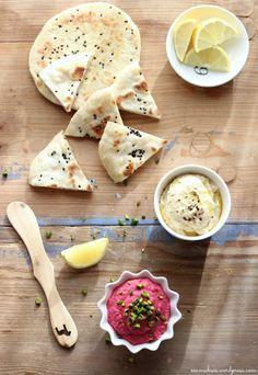 EmmaBee - Pfannenbrot und Rote-Beete-Hummus