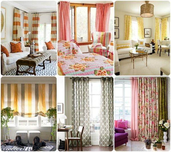 Curtains really are a great way to add spice to your apartment decor!