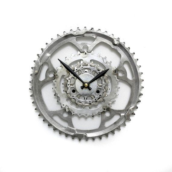 Steampunk Wall Clock - Cyclist Clock Bike Gear Wall Clock Steampunk Wall Clock Unique Wall Clock Cycling Gear Clock