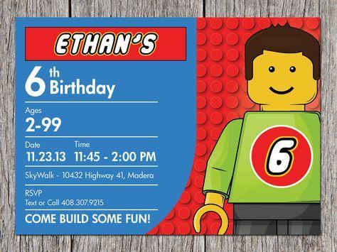 The 25+ best Lego birthday invitations ideas on Pinterest Lego - free birthday template invitations