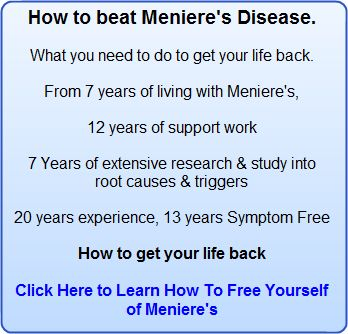 Meniere's Disease, Potassium and Salt. The Importance of Keeping a Healthy Balance