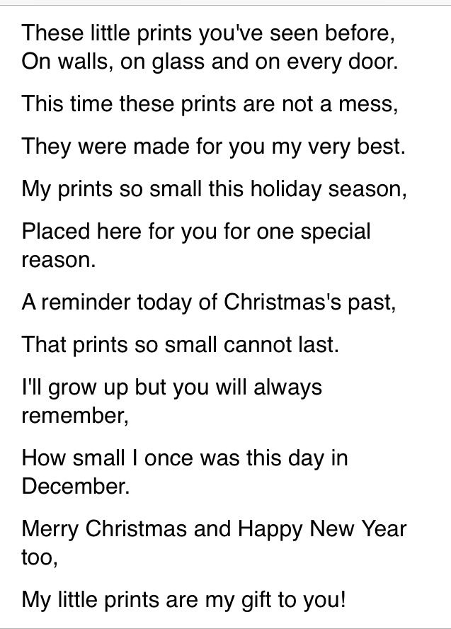 Christmas Handprint Poem  http://m.voices.yahoo.com/christmas-hand-print-poem-4115377.html