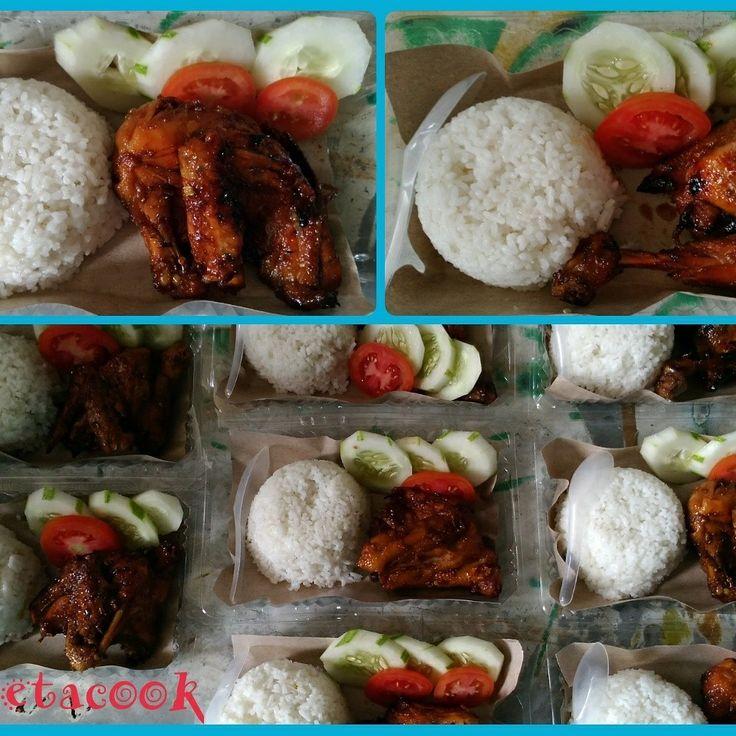 Nasi ayam bakar pedas