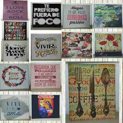 Cuadros Decorativos Frases Vintage Modernos Personalizados - $ 180,00