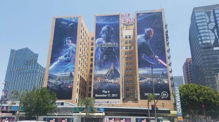 Star Wars Battlefront 2 E3 2017 Mural