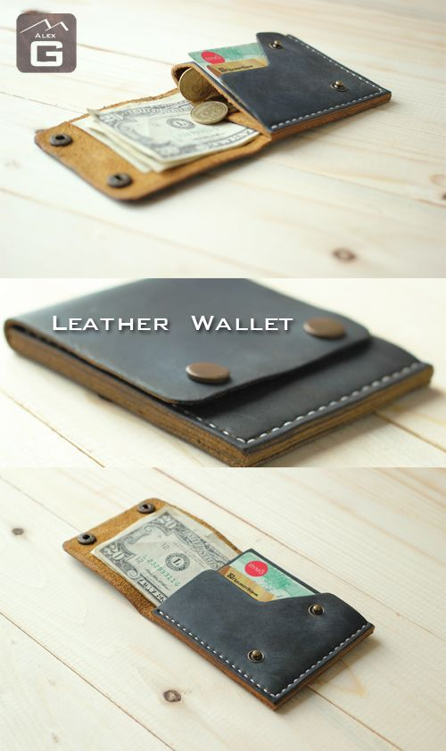 Leather Coin Wallet, Mens Leather Wallet, Mens Wal…