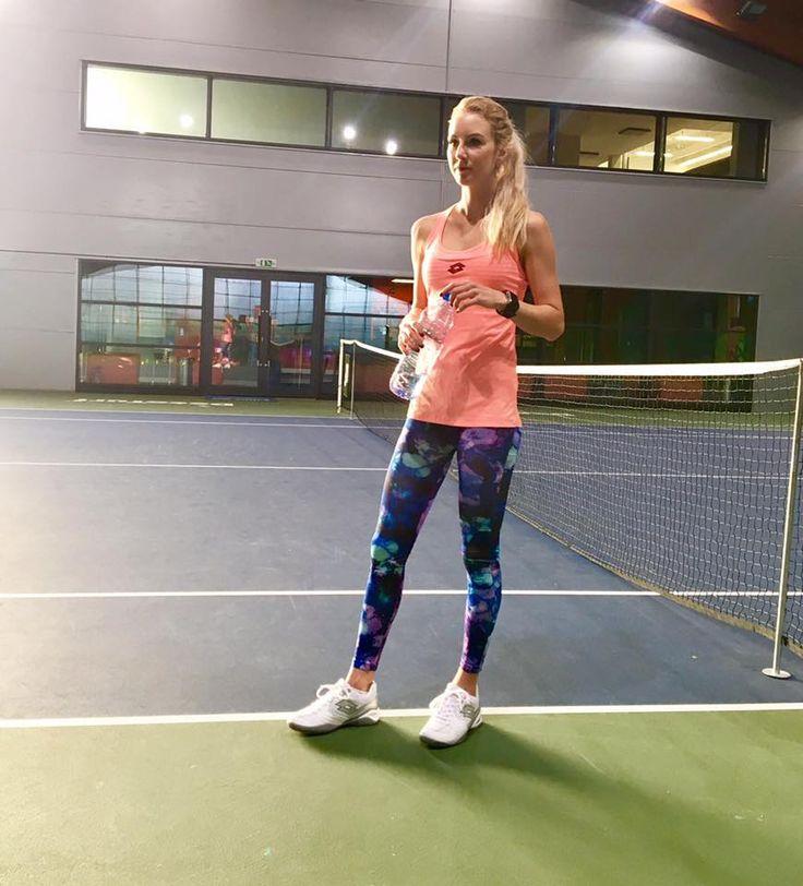 Urszula Radwanska is back to work as the season starts. #LottoSportIndia