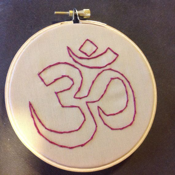 Om/Ohm symbol embroidery