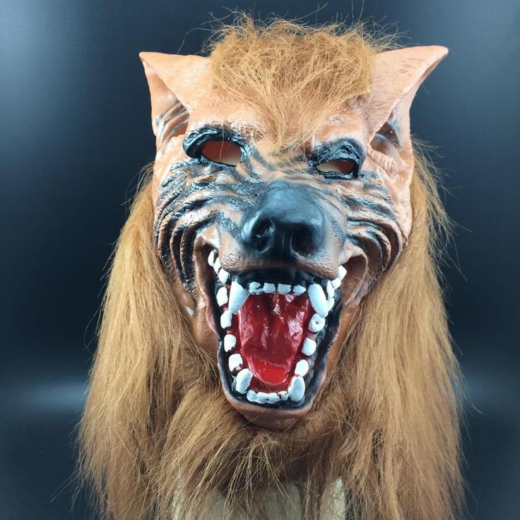 Scary Werewolf Wolf Head Masks Halloween Latex Mask Realistic Animal Cosplay Props Party Fancy Dress