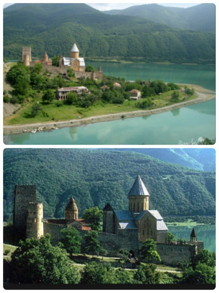 Замок Ананури.грузия