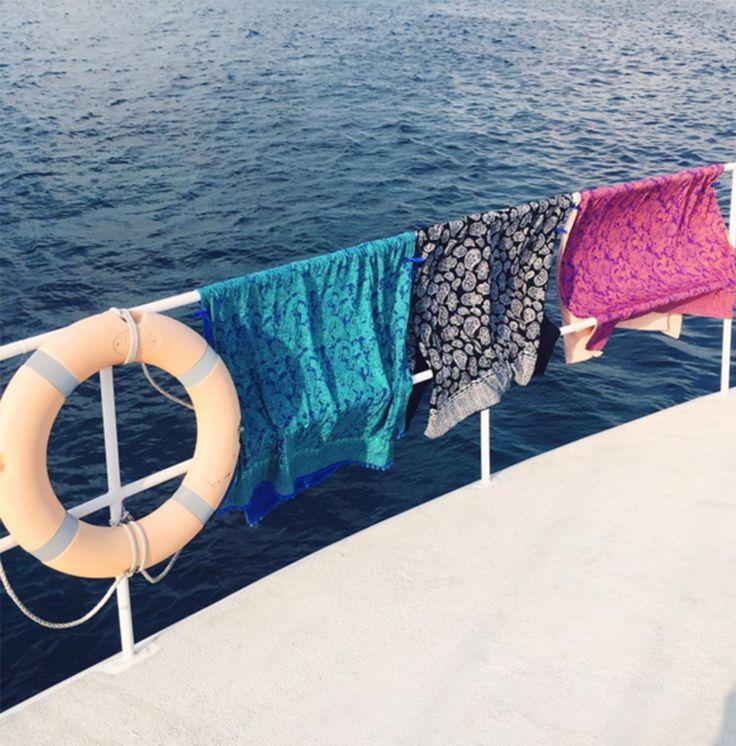 Out to S E A ⚓️ with @inkawilliams @erosexarhou @zakhenry :: #kykullo #yousmileismile :: SHOP www.kykullo.com. Courtesy of @kykullo in #Instagram. #pulauluxurycharters #haruku #boating
