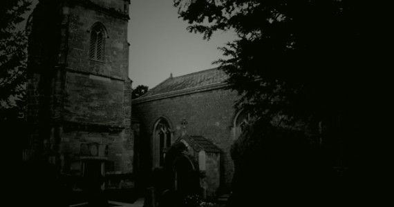 Witnessed back in 1977, was a ghostly figure of a woman in the graveyard in Cardworth.