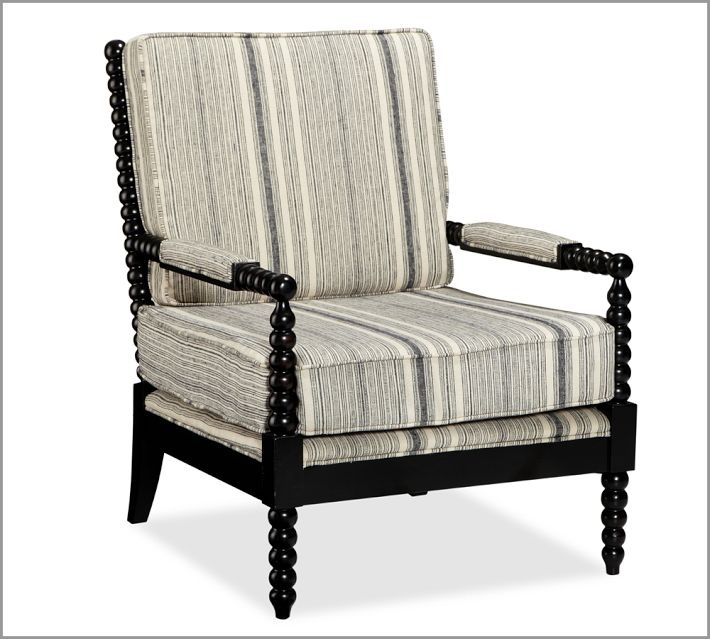 Pottery Barn Chairs And Ottomans: SABINE SPINDLE ARMCHAIR By Pottery Barn